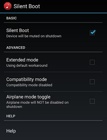 Androidスマートフォン起動音消去アプリ